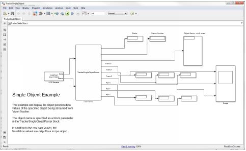 Access Vicon Tracker data from Simulink - Tracker 3 3