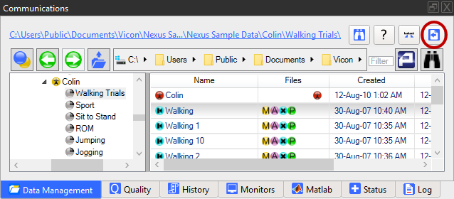Batch process trials - Nexus 2 6 Documentation - Vicon Documentation