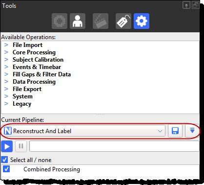 Pipeline tools - Nexus 2 5 Documentation - Vicon Documentation