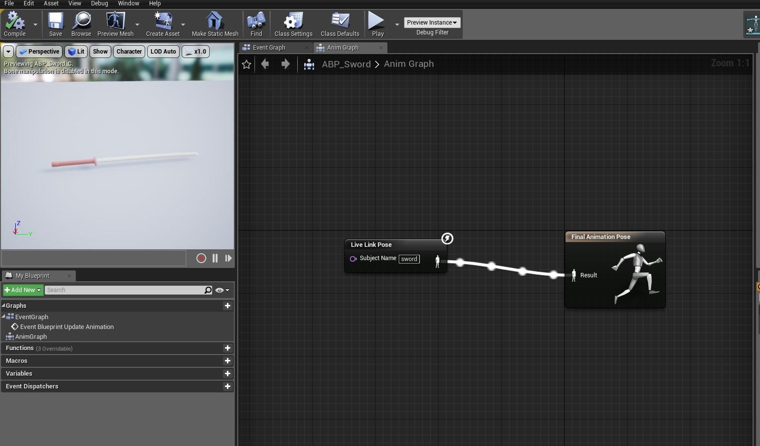 Stream Vicon Shogun full body with prop into Unreal Engine 4