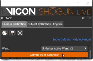 Setting up SDI video in Vicon Shogun Live - Shogun 1 2